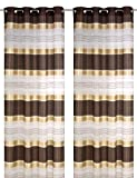 Ösenschal Horizon 06 Farbe: braun, 140 x 245 cm