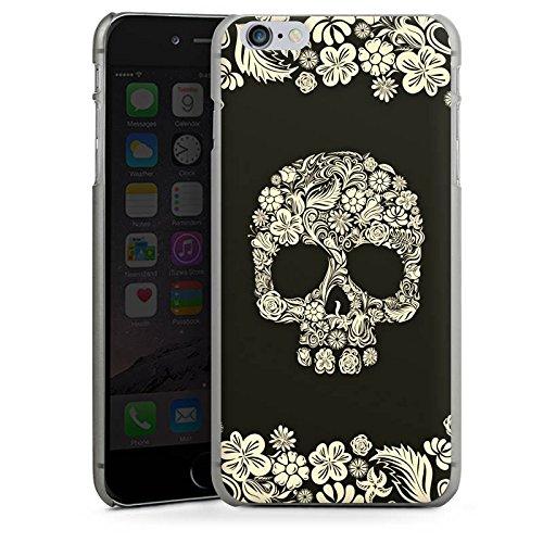 Apple iPhone X Silikon Hülle Case Schutzhülle Rosen Schädel Blumen Hard Case anthrazit-klar