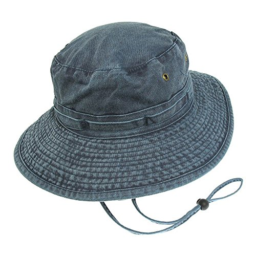 Village Hats Chapeau Bob Boonie Pliable en Coton Bleu Marine