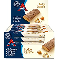 Atkins Bar, Fudge Caramel, 16er Pack (16 x 60 g)