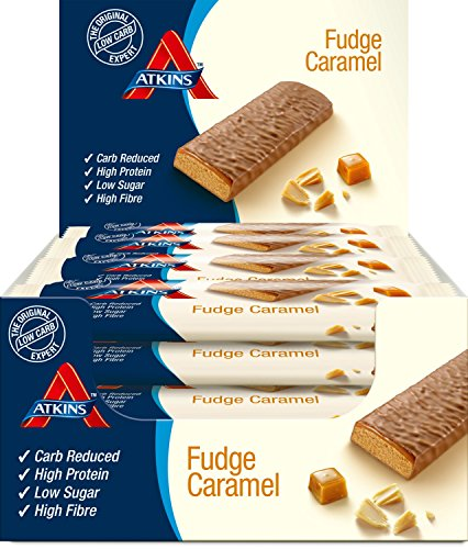Atkins Bar, Fudge Caramel, 16er Pack (16 x 60 g) -