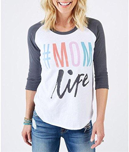 Freestyle Donna Pullover Moda Maglioni Blusa Camicie Tops T-Shirt Splice Colore Manica Lunga Sweatshirt Stampa Lettera Girocollo Casual Shirts Bianca