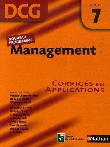 Management Epreuve 7 - DCG - Corrigs des applications