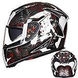Qianliuk Motorrad Full Face Helme Winter warm Double Visor Racing MotorradHelm Capacete Casco Modular Moto Helm