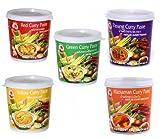 Cock Brand - Probierset Currypasten - 5er Pack - 5 Sorten