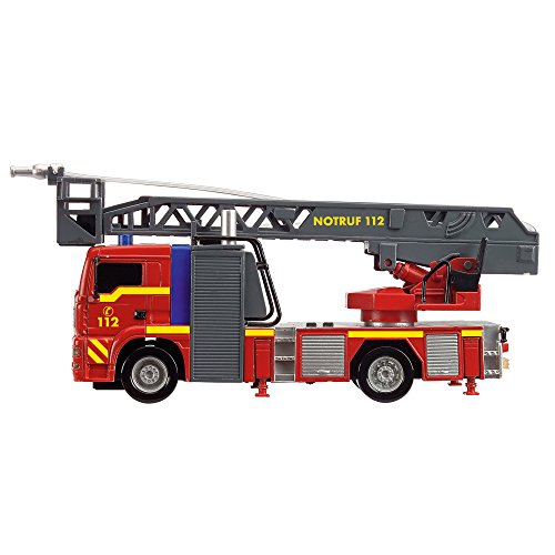 feuerwehrauto Dickie Toys 203715001 - City Fire Engine, Feuerwehrauto mit manueller Wasserspritze, 31 cm