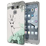 NALIA Handyhülle für LG G6, Slim Silikon Motiv Case Cover Crystal Schutz-Hülle Dünn Durchsichtig, Etui Handy-Tasche Backcover Transparent Bumper für G-6 Smart-Phone, Designs:Deer