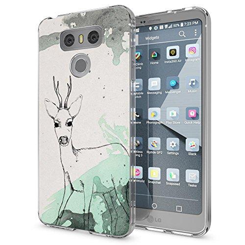 NALIA Handyhülle kompatibel mit LG G6, Motiv Design Ultra-Slim Silikon Case Cover, Crystal Schutzhülle Handy-Tasche Dünn, Muster Etui Backcover Hülle Smart-Phone Bumper, Designs:Deer