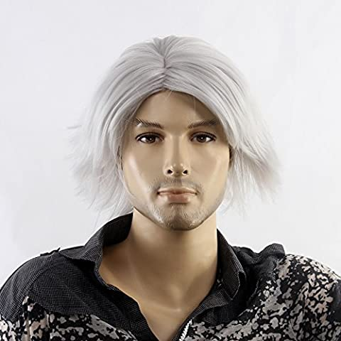 Stfantasy Male Wigs Short Curly Heat Resistant Synthetic Hair 12