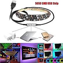 Illuminazione,WINWINTOM 100Cm Multicolore Cavo Usb Luce Striscia Di Rgb Led Tv Kit Retroilluminazione