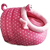 Generic Soft Pet Kennel Cute Pink Pig Warm Bed House Small Dog Cat Puppy House S-L - M