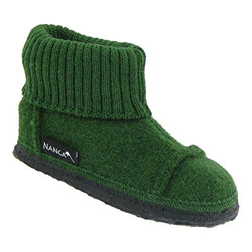 GALLUX - Hausschuhe flache Pantoffeln für die ganze Familie Dunkelgrün