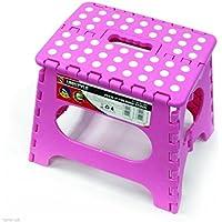 Preisvergleich für Neue Mehrzweck faltbar Kunststoff Schritt Hocker 39322722cm schwarz/weiß & pink, plastik, 39cm Pink Step Stool SL0398