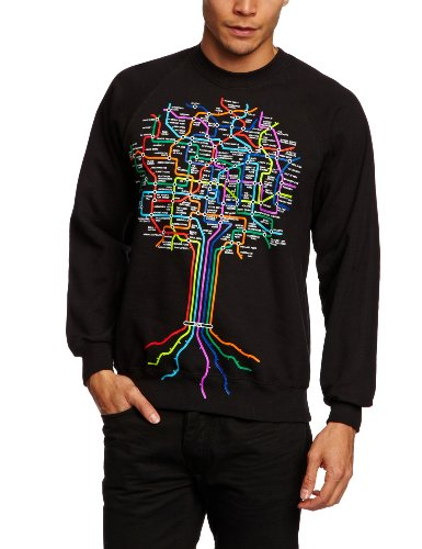 DMC Herren Sweatshirt Hip Hop Roots Schwarz