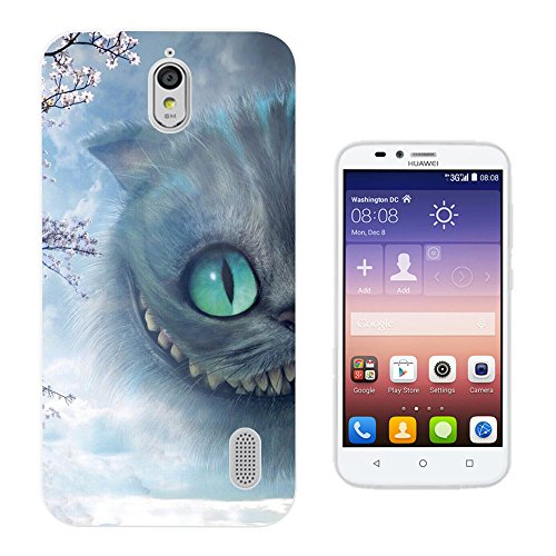 c1021 - Cool Cheshire Smiling Grinning Naughty Cat Alice Fairy Tale Design Huawei Ascend Y625 Fashion Trend Silikon Hülle Schutzhülle Schutzcase Gel Rubber Silicone Hülle