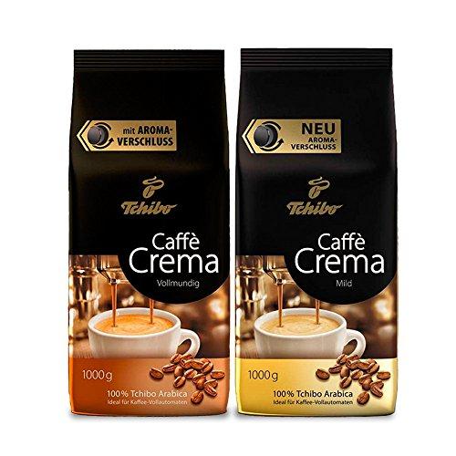 Tchibo Caffè Crema Mild und Vollmundig, 2kg ganze Bohne, Kaffee-Genuss für Vollautomaten,...