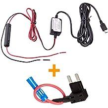 Espía Tec Dash cámara vehículo duro Cable–Mini USB + fusible kit compatible con G1W/G1W-C/G1WH/GT680W/Mini 0801/Mobius Acción Spy Tec cámara y más, Micro-USB + Fuse Kit