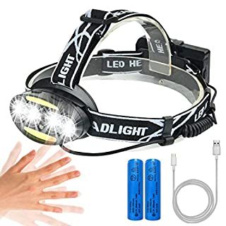LED Headlamp, AOMEES Head Torch Headlight USB Rechargeable