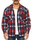 Herren Thermohemd gefüttert Arbeitshemd Jacke - mehrere Farben ID531 (XL, Rot)
