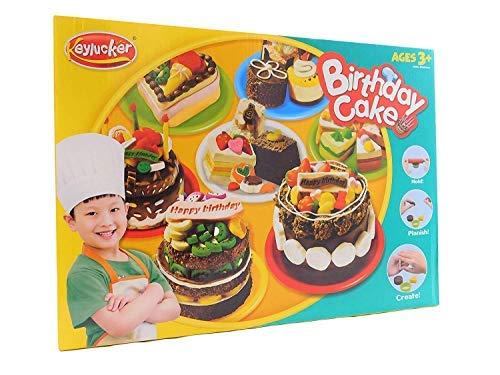 Allkindathings - Set de Arcilla plastificada para Tartas de cumpleaños con Traje de Cocinero y Accesorios