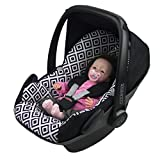 BAMBINIWELT Ersatzbezug für Maxi-Cosi PEBBLE 5-tlg, Bezug für Babyschale, Komplett-Set *NEU* SCHWARZ WEISSE KAROS