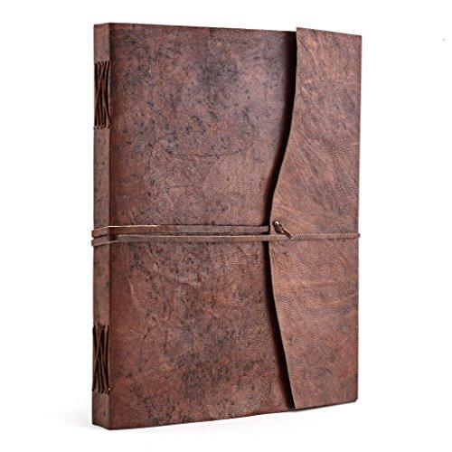 A.P. Donovan - Tagebuch Leder Notiz-Buch leer zum reinschreiben - Reisetagebuch - Diary - Braun, A4