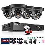 ANNKE Überwachungskamera Set 4CH TVI 1080N ONVIF DVR Recorder mit 1TB Festplatte + 4 x 1.3MP 960P Kameras CCTV Überwachungssystem IP66/Fernzugriff/smart Playback