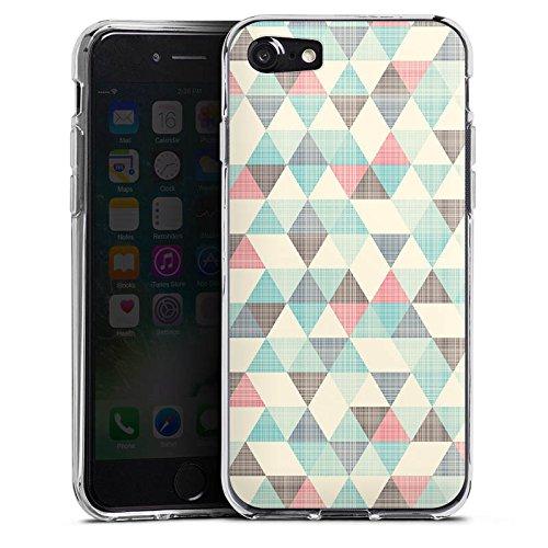 Apple iPhone 6 Silikon Hülle Case Schutzhülle Dreiecke Vintage Muster Pastell Silikon Case transparent