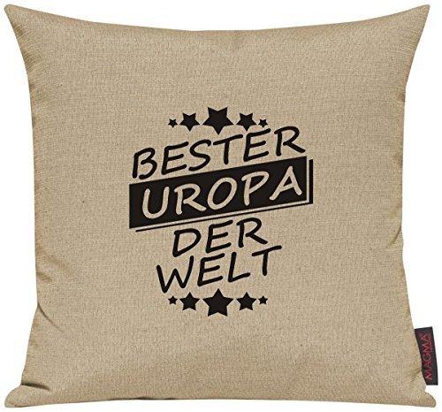 Kissenhülle für Auserwählte! Sofakissen Bester UROPA der Welt, Farbe beige