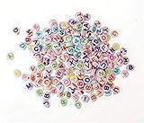 Kunststoff-Scheiben mit Loch Buchstaben farbig, 5x2mm 50g