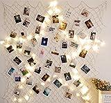 Hamigo DIY Bilderrahmen Fotorahmen Collage mit 10m Lichterkette für Wanddekoration