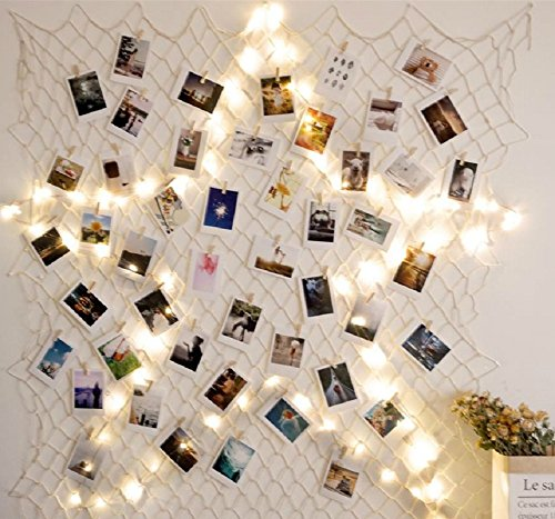 *Hamigo DIY Bilderrahmen Fotorahmen Collage mit 10m Lichterkette für Wanddekoration*