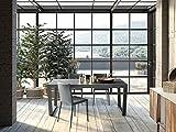 Altacom Esstisch Milano | Tisch | Küchentisch | Schiefer Optik | 180 cm x 90 cm | ausziehbar 230/280 cm | mit kratzfester Melamin Oberfläche