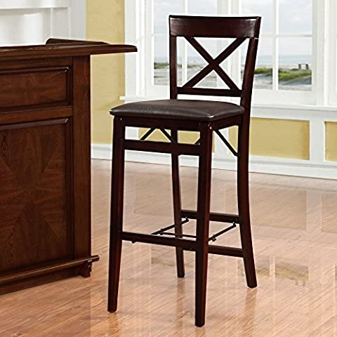 Linon Home Triena Cross Back Folding Bar Stool by Linon