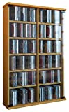 VCM Regal DVD CD Rack Turm Medienregal Medienschrank Aufbewahrung Schrank Holz Standregal Möbel in 6 Farben Roma
