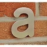 """Hausnummer Buchstabe """"a"""" - Edelstahl gebürstet - 11,5 cm - witterungsbeständig - einfache Montage"""