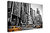 CANVAS IT UP Leinwandbilder schwarz und weiß New York Foto mit gelben Taxis New Modern Art Prints