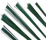 #9: Flower Making Wire 24 Guage Dark Green Coated Pack of 2-100 Wires