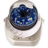 TOOGOO(R)Gross K LED Kugelkompass Bootskompass Schiffskompass Kompass Navigation Kompass Weiss