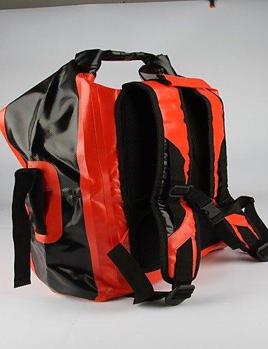 HWB/ 40L L Travel Duffel / Rucksack / Tourenrucksäcke/Rucksack / Radfahren Rucksack / Wasserdichte Dry BagCamping & Wandern / Angeln / White/Black