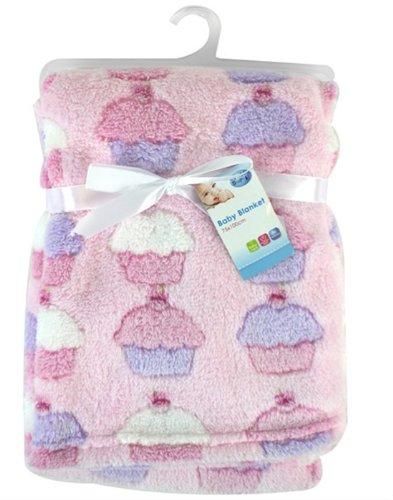 """Preisvergleich Produktbild Newborn """"First Steps"""" Baby Fleece-Decken, Design mit Cupcakes, 75x100cm"""
