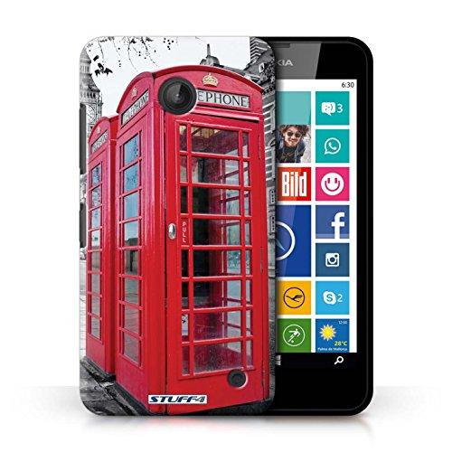Kobalt® Imprimé Etui / Coque pour Nokia Lumia 635 / Tower Bridge conception / Série Londres Angleterre Red Phone Box