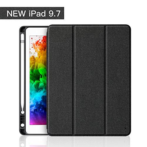 iVAPO Hülle für iPad 9.7 mit Stifthalter Schutzhülle für iPad 9.7 aus PU Leder Cover für iPad 9.7 mit Aufwachen/Schlaf Funktion Smart Case für iPad 9.7 2018/2017