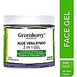 Greenberry Organics Aloe Vera Hydro 3 IN 1 Gel for Hair, Body & Skin, 100g