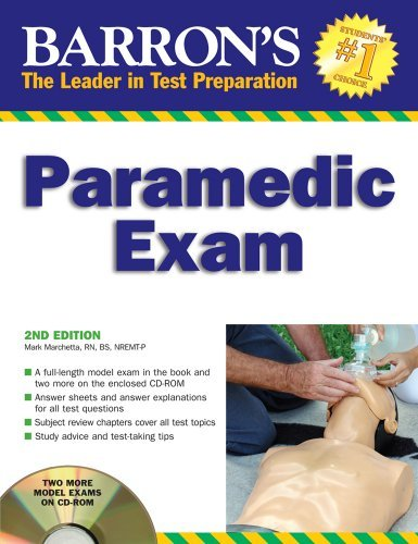 Barron\'s Paramedic Exam: with CD-ROM (Barron\'s How to Prepare for the Emt Paramedic Exam) by Mark Marchetta (2008-10-01)