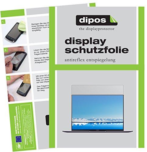 dipos I 2X Schutzfolie matt passend für Huawei MateBook X Pro Folie Bildschirmschutzfolie