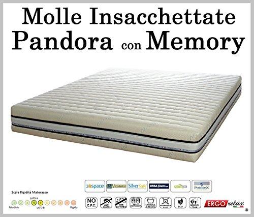 Materasso-Molle-Insacchettate-Mod-Pandora-con-Memory-Sfoderabile-in-Argento-ErgoRelax