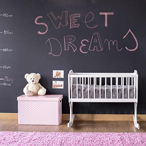 Tafelfolie selbstklebend - Wandttafel Kinderzimmer - DIY Tafel Kreidefolie schwarz, Klebefolie,...