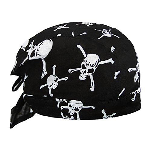 AfinderDE Unisex Modische Skelette Bandana Kopftücher Halstuch Schlauchtuch Biketuch UV Schutz Kopfband für Biking Fahrrad Motorrad Radsport