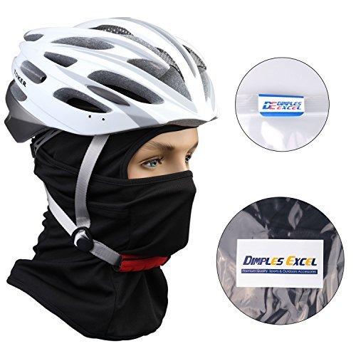Dimples Excel Cagoule Multifonction Cagoule Bonnet Cagoule Hiver pour Moto, Cyclist, Jeu de Plein Air et Sport Cagoule Anti Froid Noir + Noir